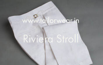 Linen Pants with Waist Adjustment Buckle