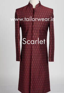 Tailored Sherwani in Silk
