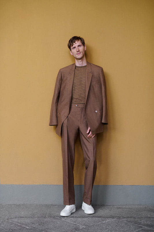Spring Summer 20 Menswear Corneliani Suit in Brown Color