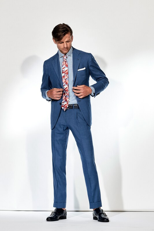 Spring Summer 20 Menswear, Kiton, Tailored Suit with Pleated Trousers