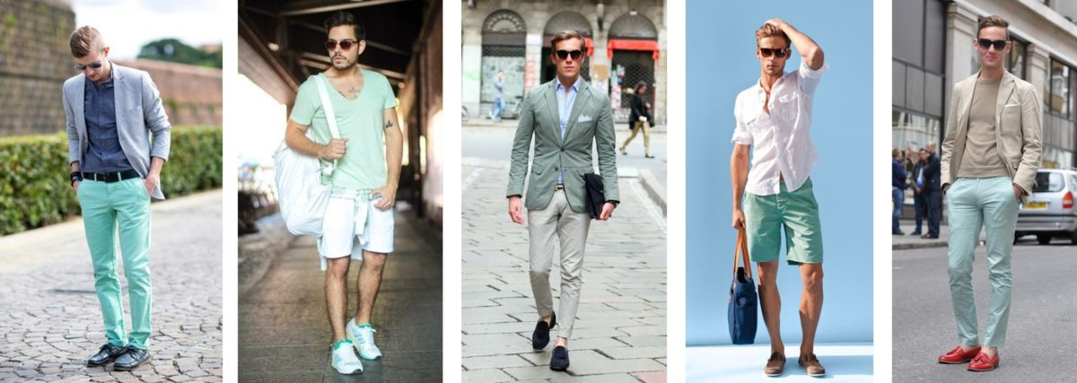 Menswear Spring Summer 20 Neo Mint Color